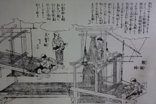 Kyoto - Centre textile Nishijin - Ancien métier à tisser