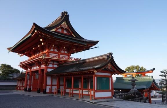 Sanctuaire Fushimi Inari Taisha - Temple situé en bas de la montagne