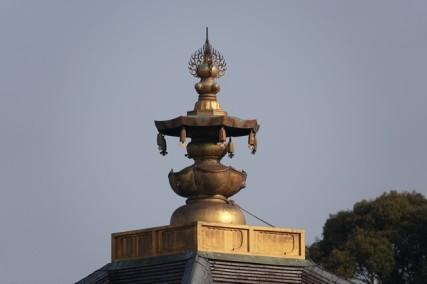Kyoto - En contrebas du temple Kiyomizu-dera - Faîte de toit