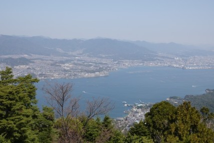 Ile de Miyajima - Vue sur Hiroshima depuis le Mont Misen