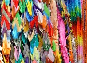 Hiroshima - Monument des Enfants pour la Paix - Origami en grues