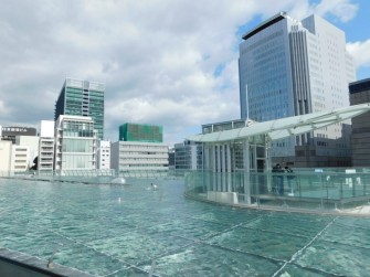 Nagoya - Oasis 21 - Le toit en verre recouvert d'eau