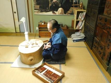 Inuyama - Démonstration de fabrication de marionnettes