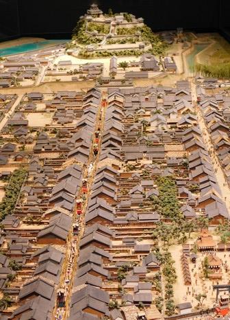 Inuyama - Musée - Maquette de la ville autrefois