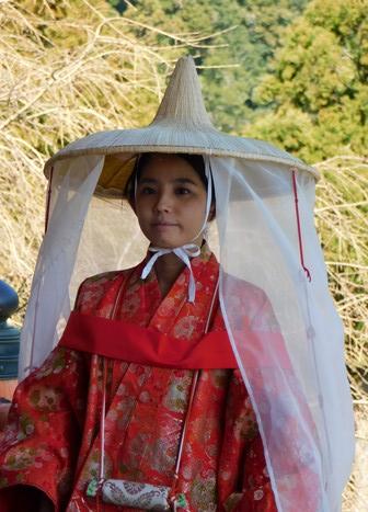 Sanctuaire de Kumano Nachi Taisha - Costume traditionnel de pêlerin