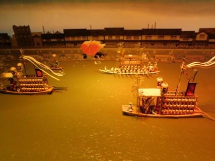 Musée du Style de vie dans l'ancien Osaka - Maquette de la Fête des Lanternes