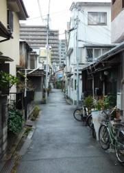 Osaka - Quartier de Kita - Ruelle donnant sur la rue couverte