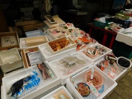 Osaka - Quartier de Kita - Rue couverte, poissonerie