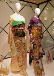 Osaka - Grand magasin plutôt chic de la tour Abeno Harukas : ici les kimonos valent environ 3.500€...