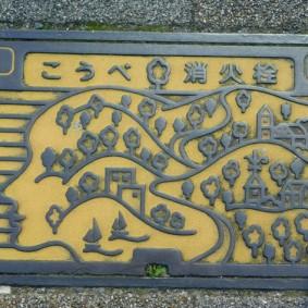 Kobe - Plaques d'égouts originales !