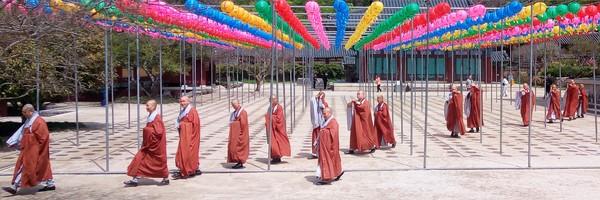 Matinée au temple Songgwangsa, un monastère bouddhiste perdu en pleinemontagne…
