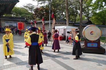 Séoul - Palais Deoksugung - Relève de la garde