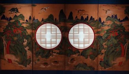 Séoul - Musée national du Palais impérial Gyeongbokgung - Cloison coulissante