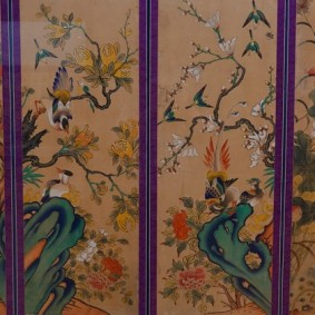 Séoul - Musée national du Palais impérial Gyeongbokgung - Cloison décorée