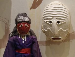 Séoul - Palais impérial Gyeongbokgung - Musée national Folklorique - Masque et marionnette