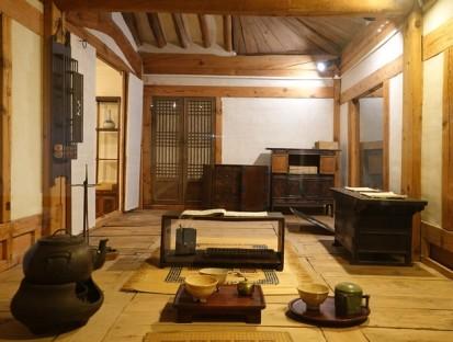 Séoul - Palais impérial Gyeongbokgung - Musée national Folklorique - Intérieur traditionnel