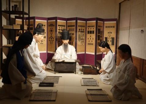 Séoul - Palais impérial Gyeongbokgung - Musée national Folklorique - Salle de classe
