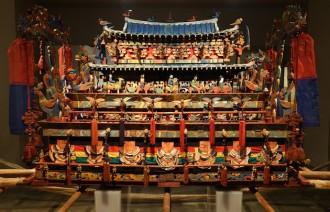 Séoul - Palais impérial Gyeongbokgung - Musée national Folklorique - Superbe cercueil décoré