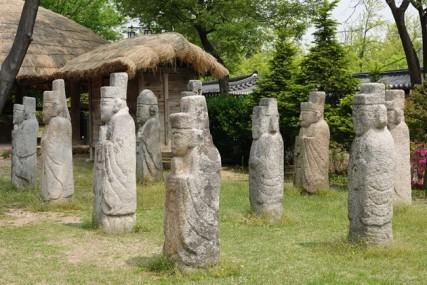 Séoul - Palais impérial Gyeongbokgung - Vue depuis l'extérieur du Musée national Folklorique