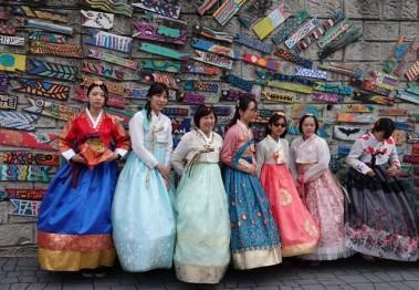 Busan - Gamcheon Culture Village - Et un petit selfie en costume traditionnel !