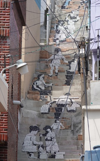Busan - Gamcheon Culture Village - Escalier...