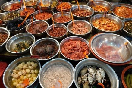 Busan - Marché Gukje - Kimchi (légumes fermentés et épicés)