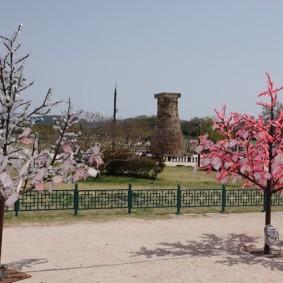 Gyeongju - Parc Wolseong - Ancien observatoire astronomique datant du royaume de Silla