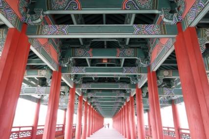 Gyeongju - Pont vers le Gyochon Hanok village