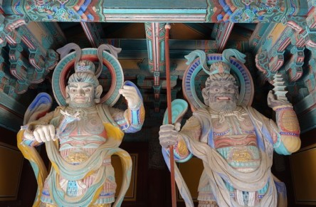 Gyeongju - Temple Bulguksa - Gardiens