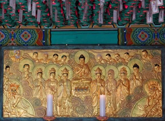 Gyeongju - Grotte de Seokguram - Petit temple annexe
