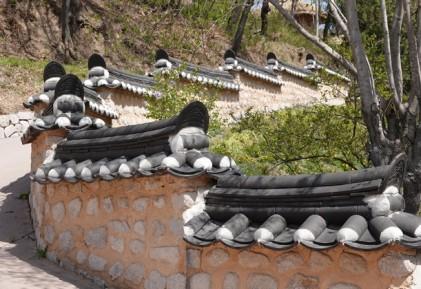 Yangdong - Beau mur d'enceinte
