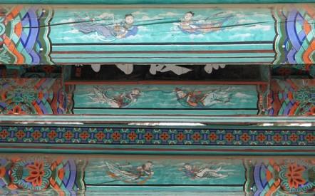 Temple Haeinsa - Détail du torii