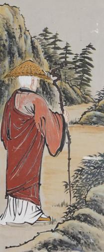 Temple Haeinsa - Pavillon annexe - Murs peints