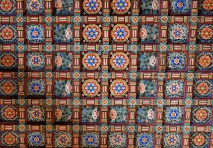 Temple Haeinsa - Hall principal - Plafond cloisonné