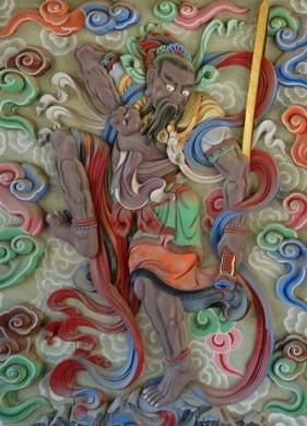 Temple Songgwangsa - Gardien du torii d'entrée