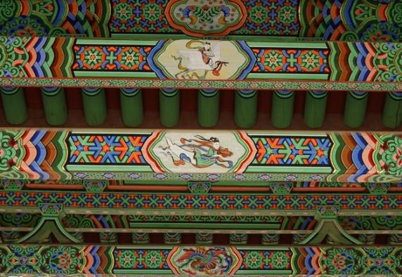 Temple Songgwangsa - Détail du torii d'entrée