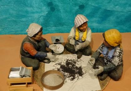 Boseong - Plantation de thé Daehan Dawon - Musée, reconstitution de la mise en paquet des feuilles de thé