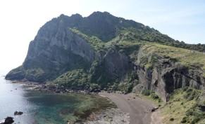 Seongsan Ilchulbong Peak -Vue sur le pic que l'on vient de grimper...
