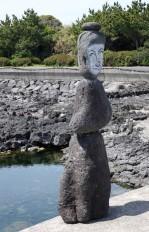 Route côtière entre Seongsan et Pyoseon-Myeson - Sculpture en pierre de lave
