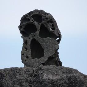 Jeju Stone Park - Cette pierre fait penser au Cri de Munch...