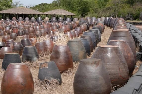 Jeju Stone Park - Musée d'Art - Village traditionnel - Pots à kimchi