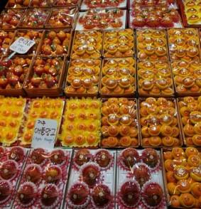 Jeju Town - Dungmun Market - Oranges sous plastique !