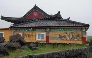 Côte sud-ouest de Jeju - Vers Hamo Beach, joli petit temple