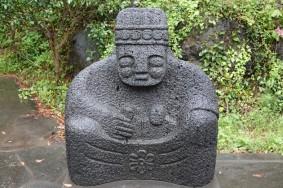 "Côte sud-ouest de Jeju - Statues de ""grand-mère"", pendant des Dol Hareubang, Yeongmeori Coast"