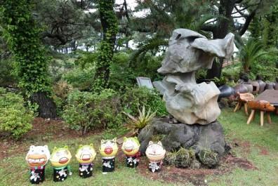 Parc Oedolgae - Petites figurines et authentique pierre de lave !