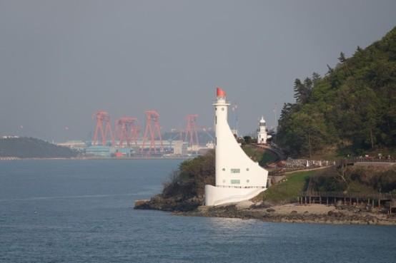 Traversée en ferry Jeju / Mokpo - Arrivée vers le port...
