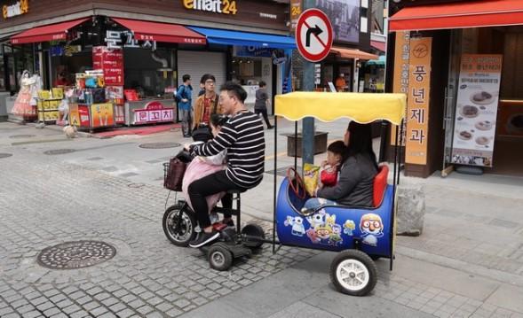 Jeonju - Hanok Village - Pratique pour transporter toute la famille !