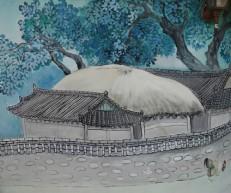 Jeonju - Hanok Village - Mur peint