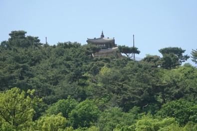 Suwon - Vue depuis le Palais Hwaseong Haenggung