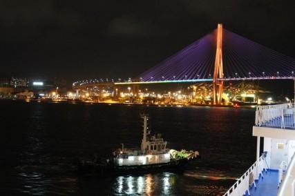 Busan, de nuit - Vue depuis le ferry